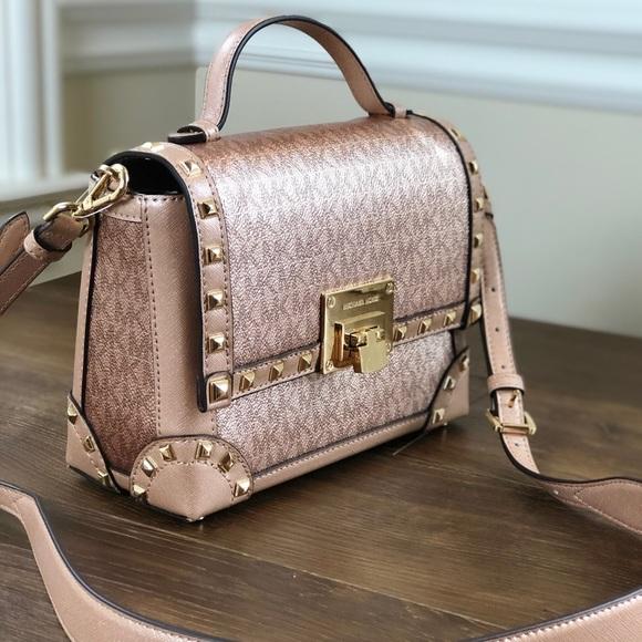 bbd5a91d60bde9 Michael Kors Bags | Nwt Tina Studded Trunk Handbag | Poshmark